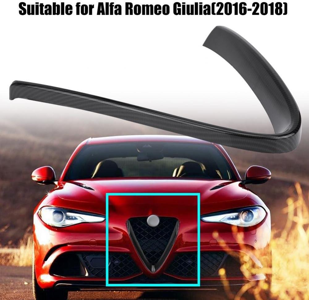 Qii lu Car Interior Front Grill Protective Frame Cover Trim for Alfa Romeo Stelvio 2017-2019 Red