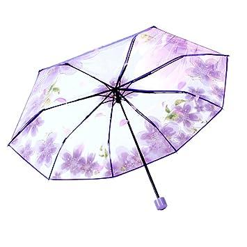 Amazon.com: 3 paraguas plegable de cerezo para lluvia y ...