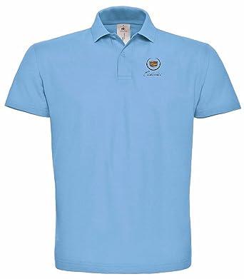 Cadillac Vip Premium Bestickte Logo Shirt Poloshirt 103 Blau