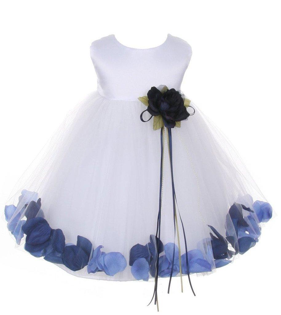 iGirlDress Baby Girls Satin Bodice Flower Pageant Petal Dress Infant ...