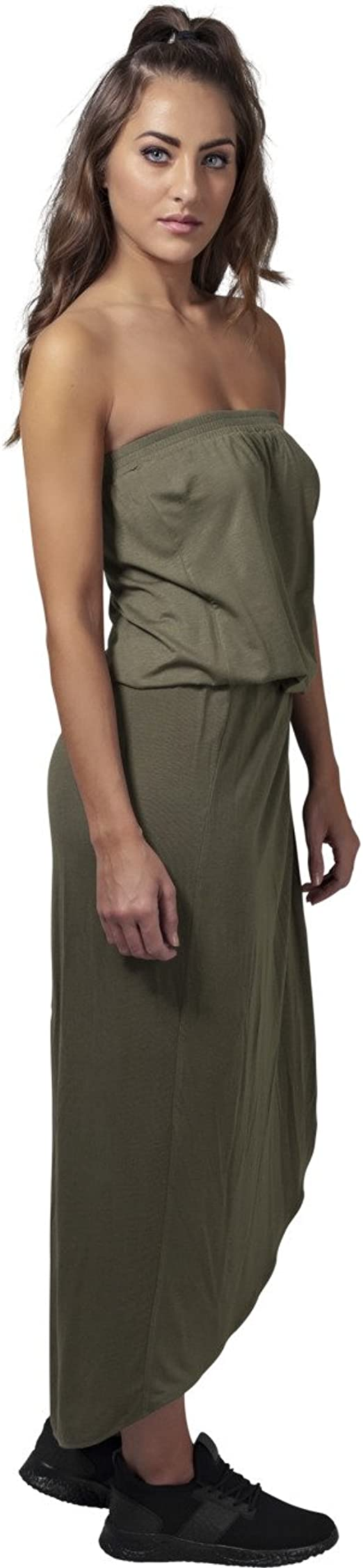Urban Classics Ladies Viscose Bandeau Dress Vestito Donna