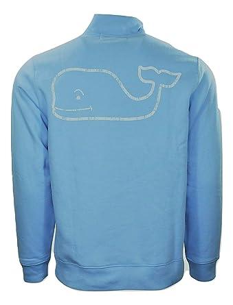 af57de65a Vineyard Vines Mens Dutch Blue Graphic 1/4 Zip Vintage Whale Pullover Size  S at Amazon Men's Clothing store: