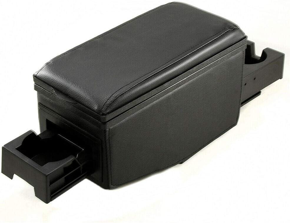 colore nero in ecopelle Bracciolo centrale universale 42007 per auto