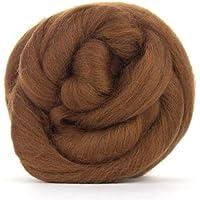 Lana de merino marrón medio/Tops–50gm. Ideal para mojado/de