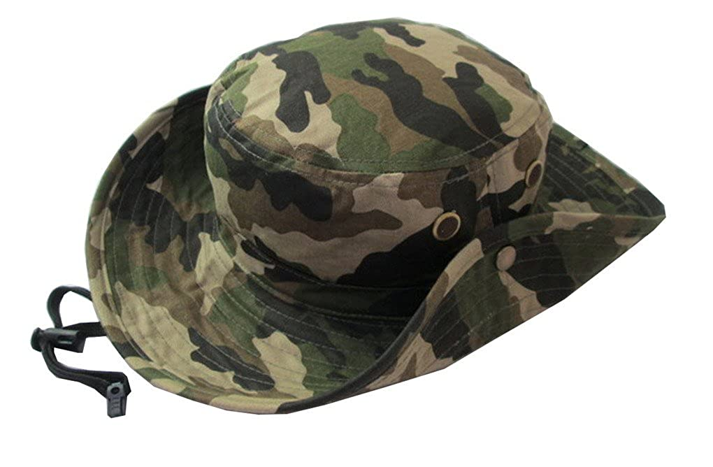 Unisex Girls and Boys Beach Sun Bucket Camouflage Modelling Hat Summer Beanie Caps ACME