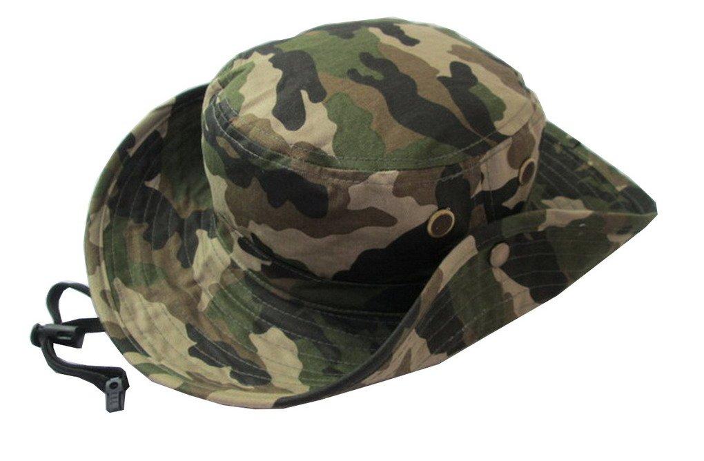 Unisex Children Girls and Boys Beach Sun Bucket Camouflage Modelling Hat Summer Beanie Caps