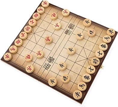 Style wei Juego de ajedrez Chino ajedrez Plegable Junta Hebilla de Metal de Bloqueo ELM Conectado Juguetes de niños Caja de Estudiantes: Amazon.es: Juguetes y juegos