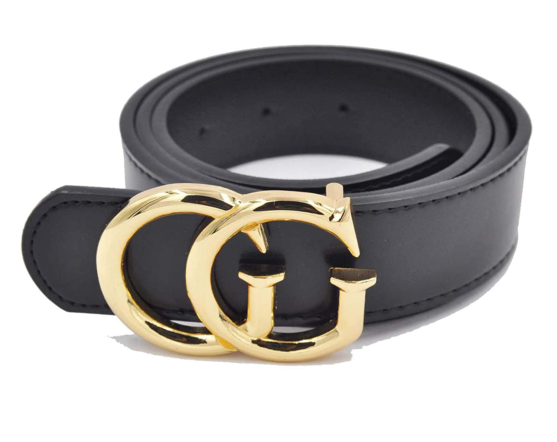 212e255d3 [TGVQUN] Luxury Designer GG Style Women Girl Fashion Belt [3.2CM Width]  (100CM [Waist 28-32 at Amazon Women's Clothing store: