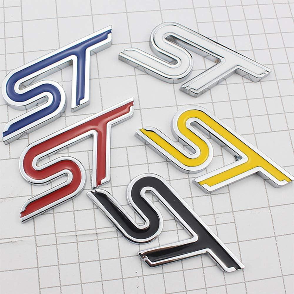 XCBW Logotipo de la l/ínea ST de Metal Emblema ST para la Tapa del Maletero Trasero Etiqueta de Letras de la Puerta Trasera para F-ORD Focus//Fiesta//Kuga//Mondeo,Azul