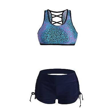 bf86796599c Lover-Beauty Women Plain Swim Skirt Briefs Beach Bikini Culotte Tankini Swimsuit  Bottom  Amazon.co.uk  Clothing