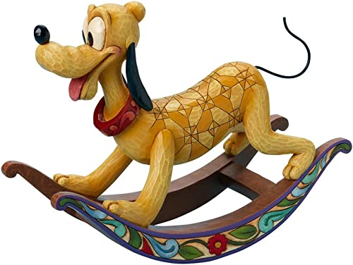 Enesco Disney Traditions Designed by Jim Shore Rocking Horse Pluto Figurine 9 in