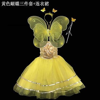 41f909ce6b05f ハロウィン 衣装 子供 着ぐるみ 妖精 コスチューム ちょうちょ羽根 セット 可愛い ワンピース コスプレ衣装 コスチューム 演出服