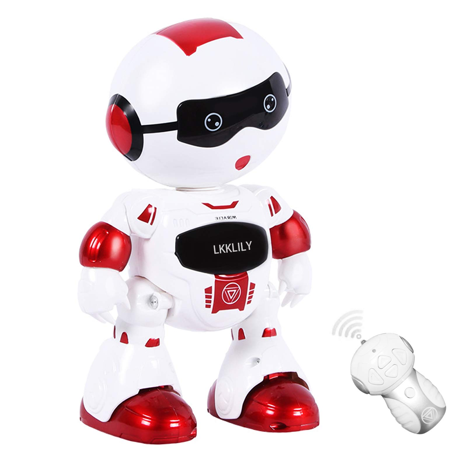 LKKLILY Remote Control Robot with Touch Interaction Music Dance and Lights Remote Toy for Children Kids and Kids Gifts (Red)