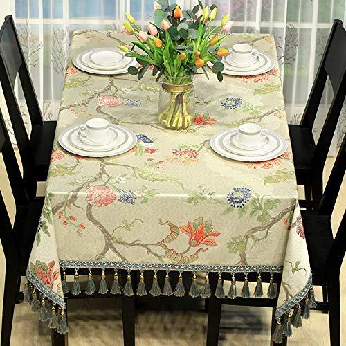 テーブルクロスマット ホーム現代中国の牧歌的なテーブルクロス1010ホームリビングルームのコーヒーテーブルクロス長方形の布レストランのテーブルクロス ホームデコレーション (サイズ : A) A  B07QLWX9R7