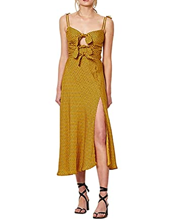 795b4e1e3 Bec & Bridge Sun Valley Midi Dress in Spot Print Size 2 at Amazon Women's  Clothing store: