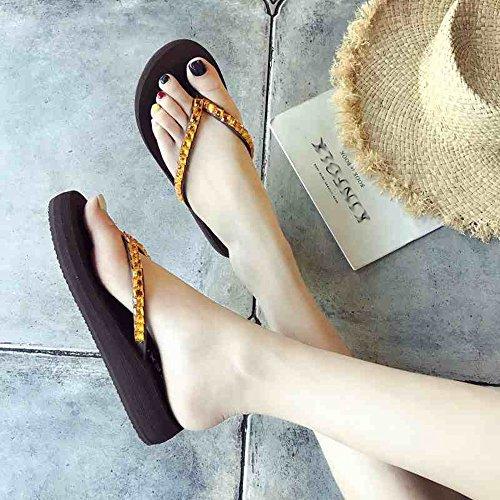 Indossare A Pantofole Estate In Cartella Spesse Antiscivolo Zhangrong 36 Scarpe Dimensioni Donna B Da Suole Spiaggia Moda colore Pendenza B Con Sandali IwZrpwq
