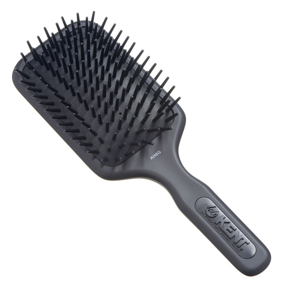 Kent AH6G Airhedz Pro Extra Large Pin Hair Brush (Fat Pin, Grey)