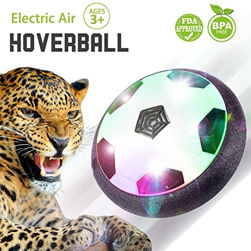 Hover Ball Disk Air Power Soccer with LED Lights Sports Hockey For Kids Pets Boys Girls Indoor or Outdoor with Parents Game Halloween Christmas Thanks Giving Toy Gift (Halloween Outdoor Games For Kids)