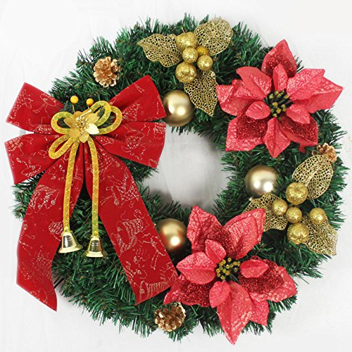 Christmas Garland for Stairs fireplaces Christmas Garland Decoration Xmas Festive Wreath Garland with Christmas wreath Wreaths Christmas Christmas,45CM by Caribou Furniture And Decor