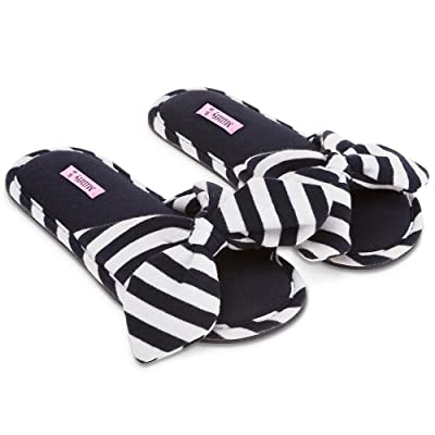 Millffy New Summer Sweet Ladies Shoes Pink Home Slippers Cotton Indoor Slides Knot Stripe Slippers | Slippers