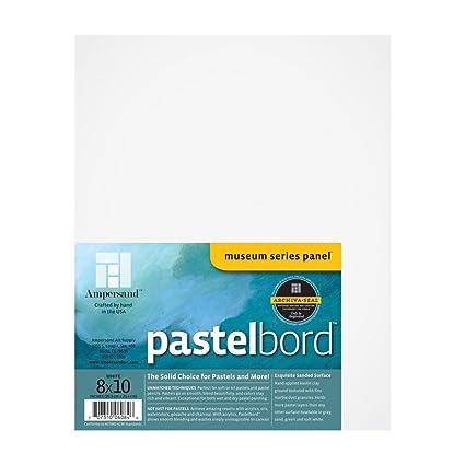 amazon com ampersand pastelbord white 1 8 inch depth 8x10