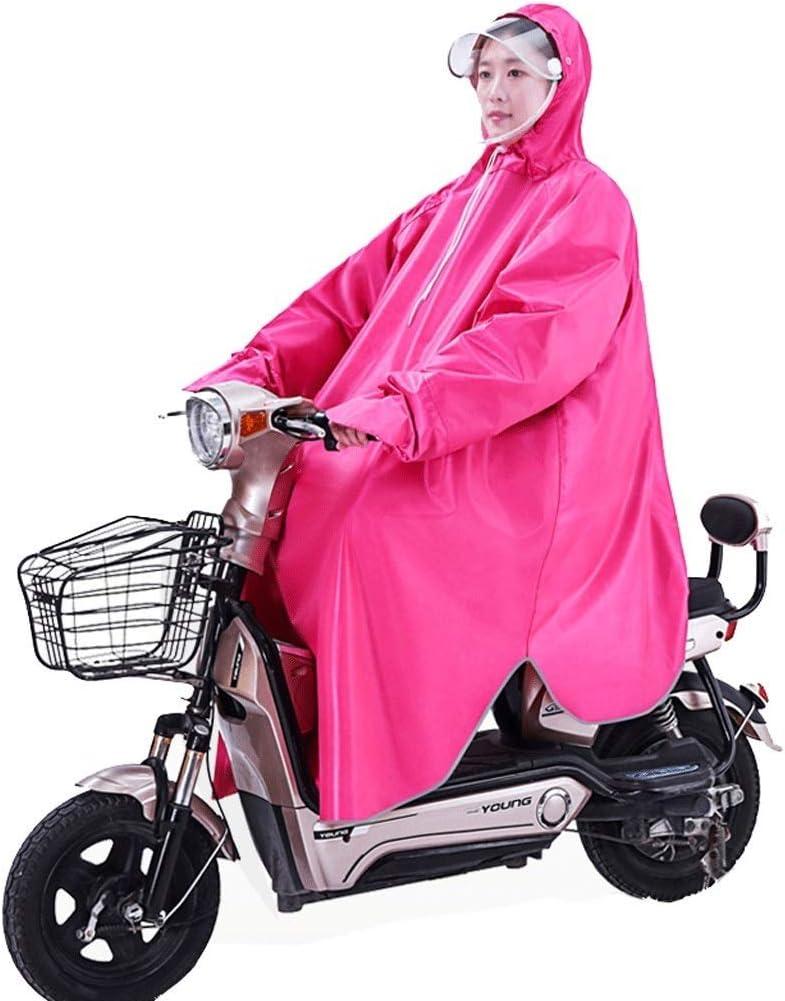LULUDP Chubasqueros Traje Impermeable de la Motocicleta de la Sola Manga, Conjunto Impermeable del Impermeable del Poncho del Montar a Caballo de la Bici eléctrica Que Monta Adulto Traje de Lluvia