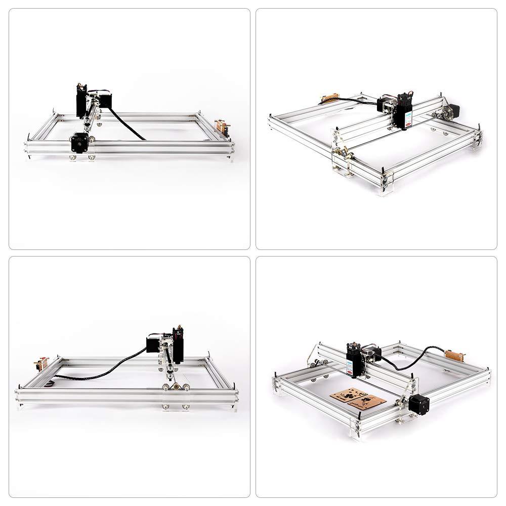 Impresora de escritorio de 2 ejes para madera Madera 6550 M/áquina grabadora grabadora grabadora de madera TOPQSC 10W M/áquina grabadora l/áser Impresora de bricolaje Marca de imagen con logotipo