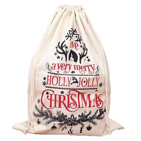 aaerp Bolsos de Regalos de Lona de Navidad, decoración de ...