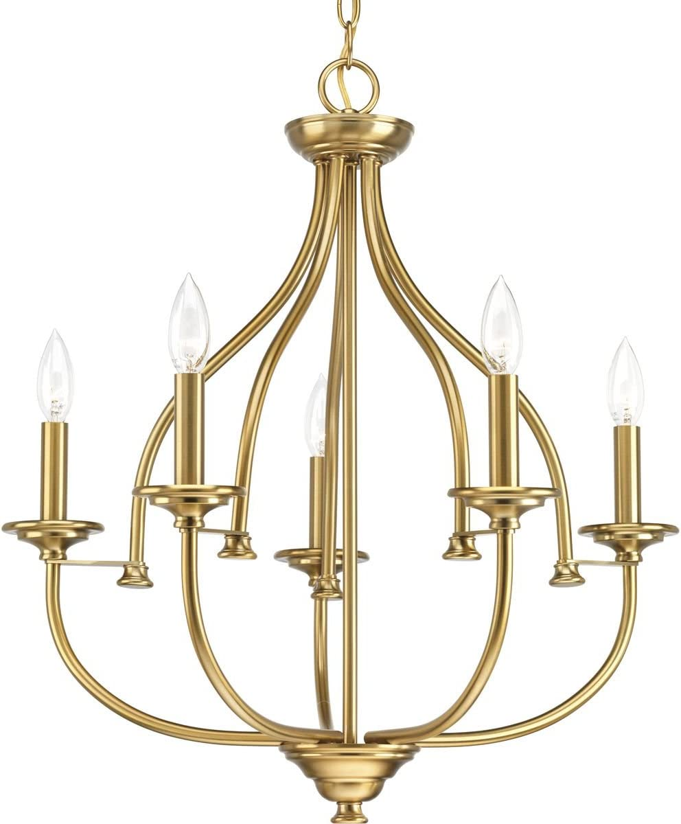 Progress Lighting P400066-109 Tinsley Five-Light Chandelier, Brushed Bronze