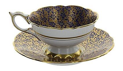 Amazon com | Vintage Royal Stafford England Bone China Blue