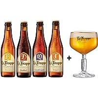4 Pack de cervezas Holandesas La Trappe 330 ml + Copa original