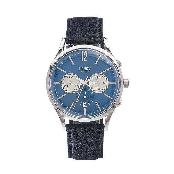Henry de Londres Unisex Reloj de Pulsera Knightsbridge Cronógrafo Cuarzo Piel hl41 de CS de 0039