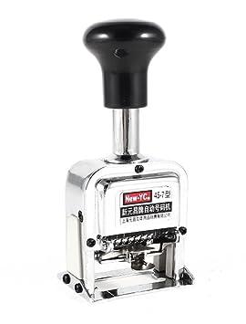 DMtse plata Metal tono 7 dígitos automático numeración máquina