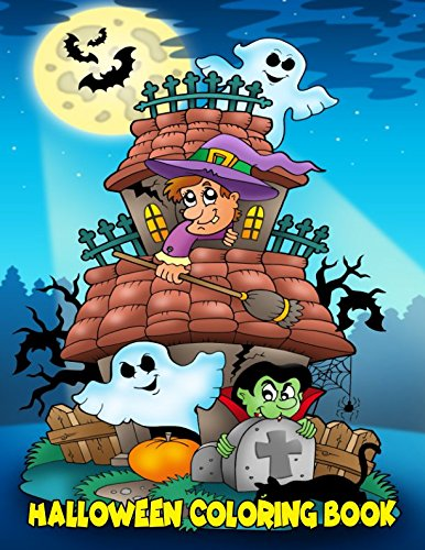 Halloween Coloring Book: For Kids Ages 4-8, 8-12 -