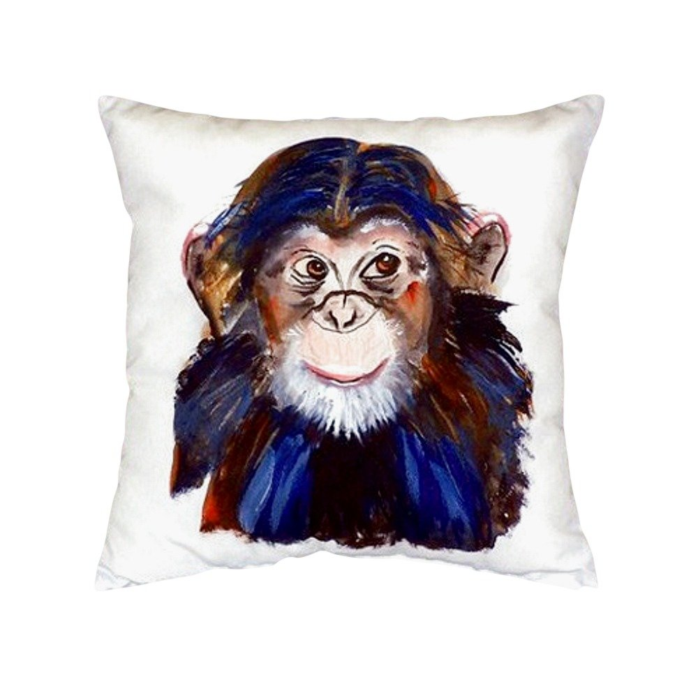 Betsy Drake NC280 Chimpanzee No Cord Pillow 18 x18