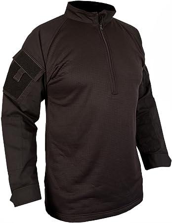 Camiseta negra, estilo ejército de combate táctico UBACS: Amazon.es: Deportes y aire libre