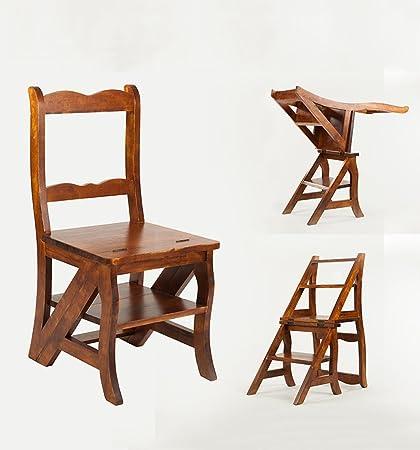 CAIJUN Sedie legno massello Doppio scopo pieghevole Scaffali ...