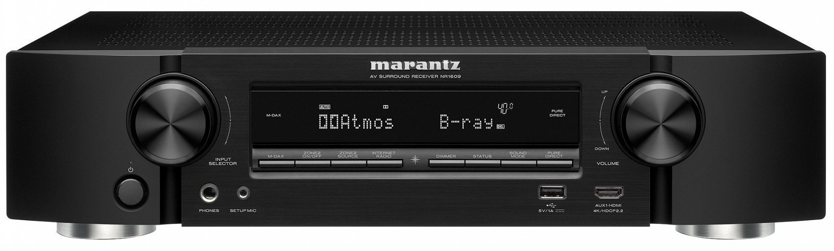 Marantz AV Receivers Audio & Video Component Receiver Black (NR1609) (Renewed)