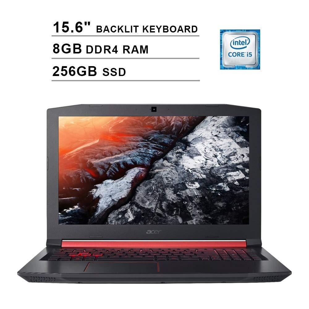 2019 Acer Nitro 5 AN515 15.6 Inch FHD Gaming Laptop (Intel Quad Core i5-8300H up to 4.0 GHz, 8GB DDR4 RAM, 256GB SSD, NVIDIA GeForce GTX 1050 Ti, Backlit Keyboard, Windows 10) (Shale Black) (Renewed)