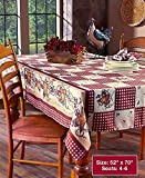 country kitchen table Linda Spivey Kitchen Decor Table Cloth Linens Primitive Country Hearts Stars TableCloth or Napkins Kitchen Collection (52