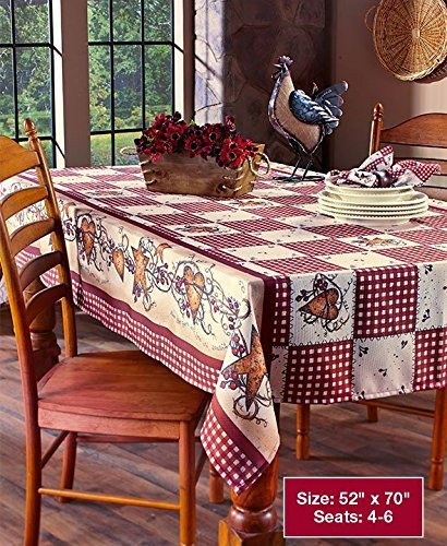 Linda Spivey Kitchen Decor Table Cloth Linens Primitive Country Hearts Stars Tablecloth Or Nins Collection 52 X 70 Oblong