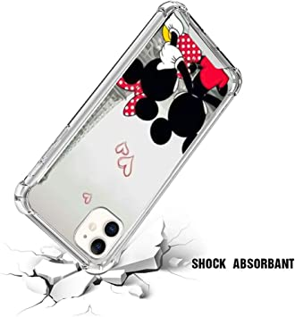 Amazon Com Disney Collection Phone Case For Iphone 11 Transparent Wallpaper Disney Mickey Mouse Design Iphone 11 Case Clear Shockproof Drop Protection Crystal Cover Shell Electronics