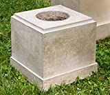 Campania International PD-169-GS Classic Short Pedestal, Grey Stone Finish