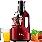 "SKG Wide Chute Anti-Oxidation Slow Masticating Juicer (240W AC Motor, 60 RPMs, 3"" Big Mouth) - Vertical Masticating Cold Press Juicer - Mothers Day Gifts From"