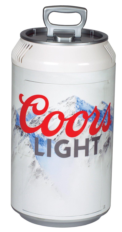 Koolatron CL06 Coors Light Mini Can Fridge, White