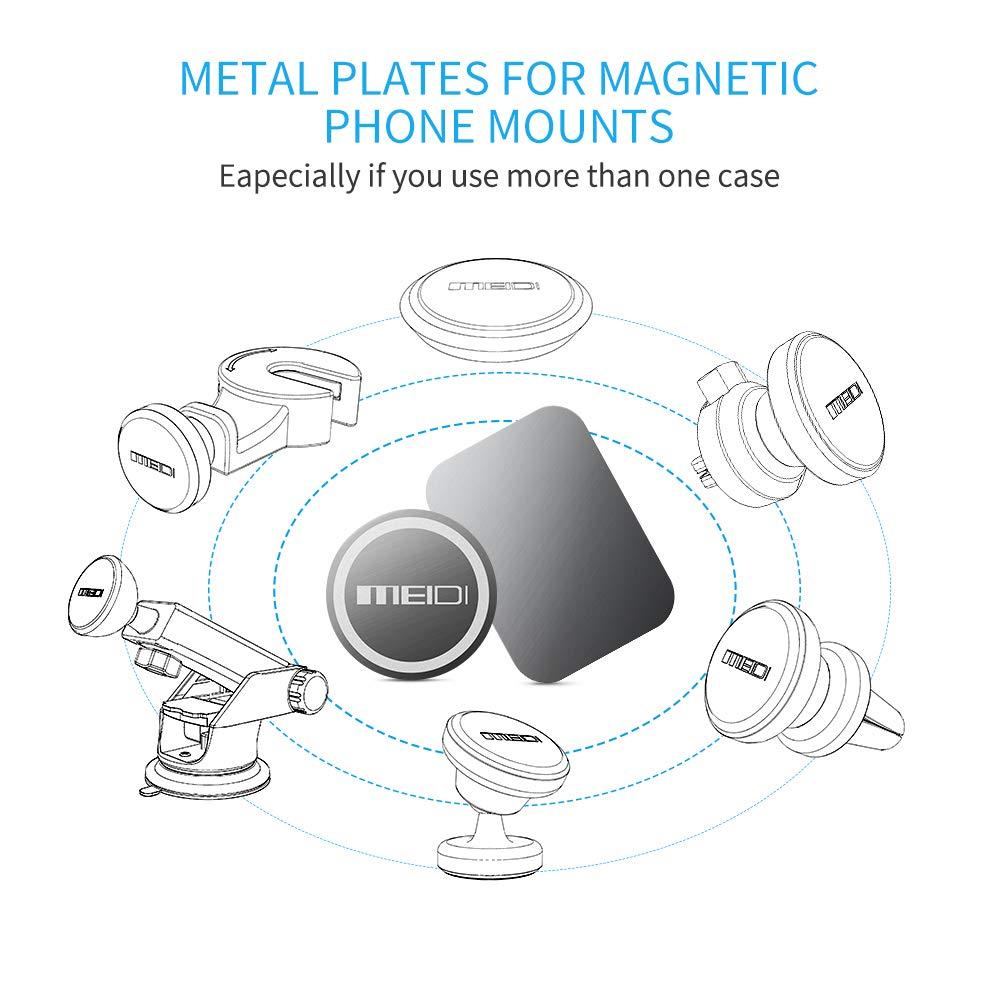 MEIDI Mount Metallplatte 6er Pack Universal Metall Disc Ersatz Kit No Marking