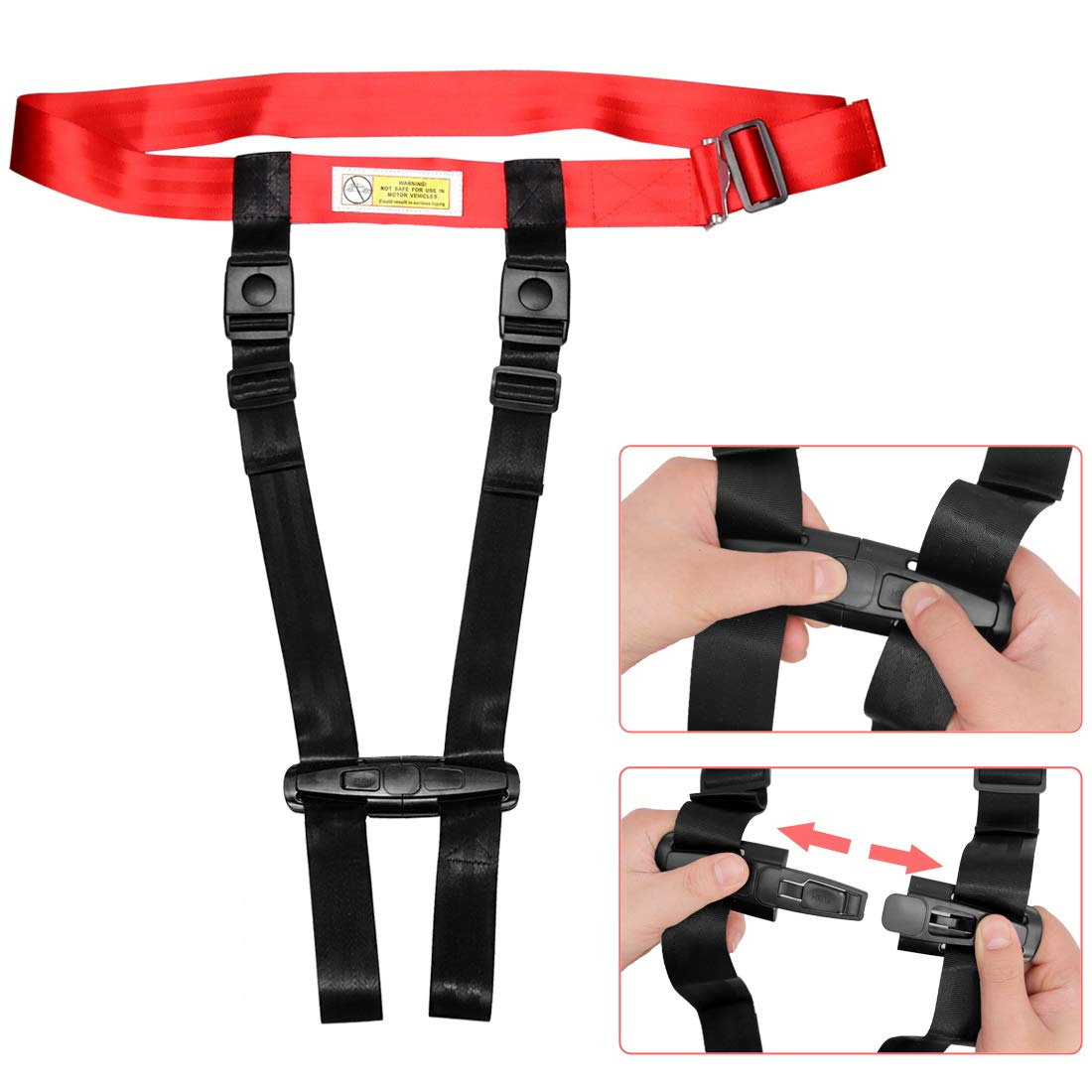 Child Airplane Travel Harness Safety Clip Strap Restraint System for Baby, Toddlers & Kids- for Airplane Travel Use Only by Together-life (Image #7)