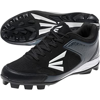 Easton 360 Youth Baseball Cleats - Black/Charcoal (1.5)