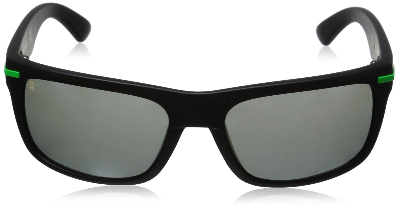 Kaenon Mens Burnet Polarized Rectangular Sunglasses