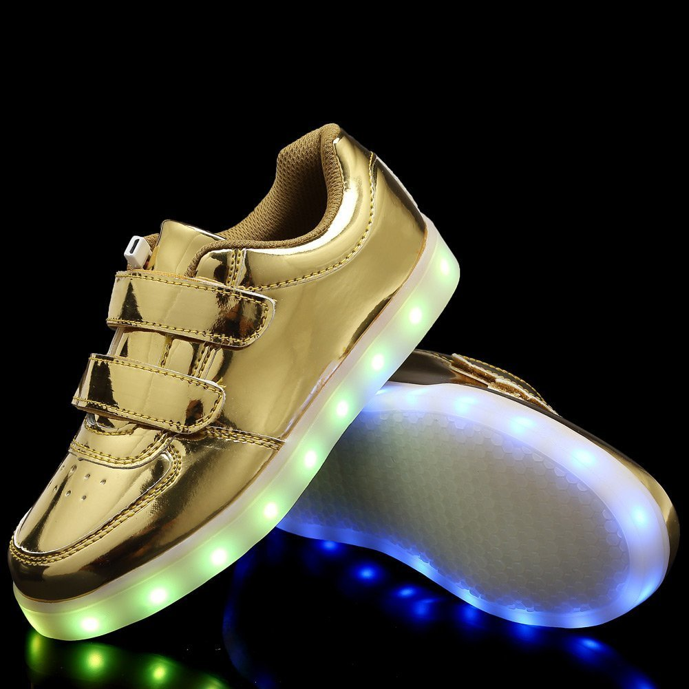 xiaoyang USB Charging LED Light Up Shoes Flashing Sneaker for Kids Boys Girls Toddler//Little Kid//Big Kid